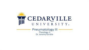 View thumbnail for Theology II: Pneumatology (part 3)