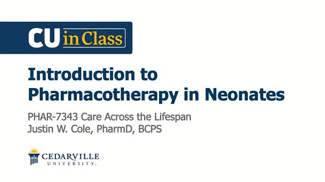 View thumbnail for Pharmacy – Care Across the Lifespan (Neonates)