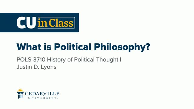 View thumbnail for Political Science – History of Political Thought I
