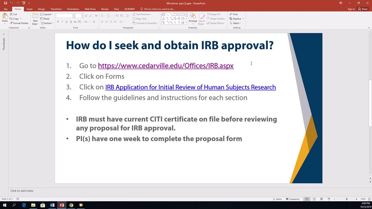 View thumbnail for IRB Training: Video 3