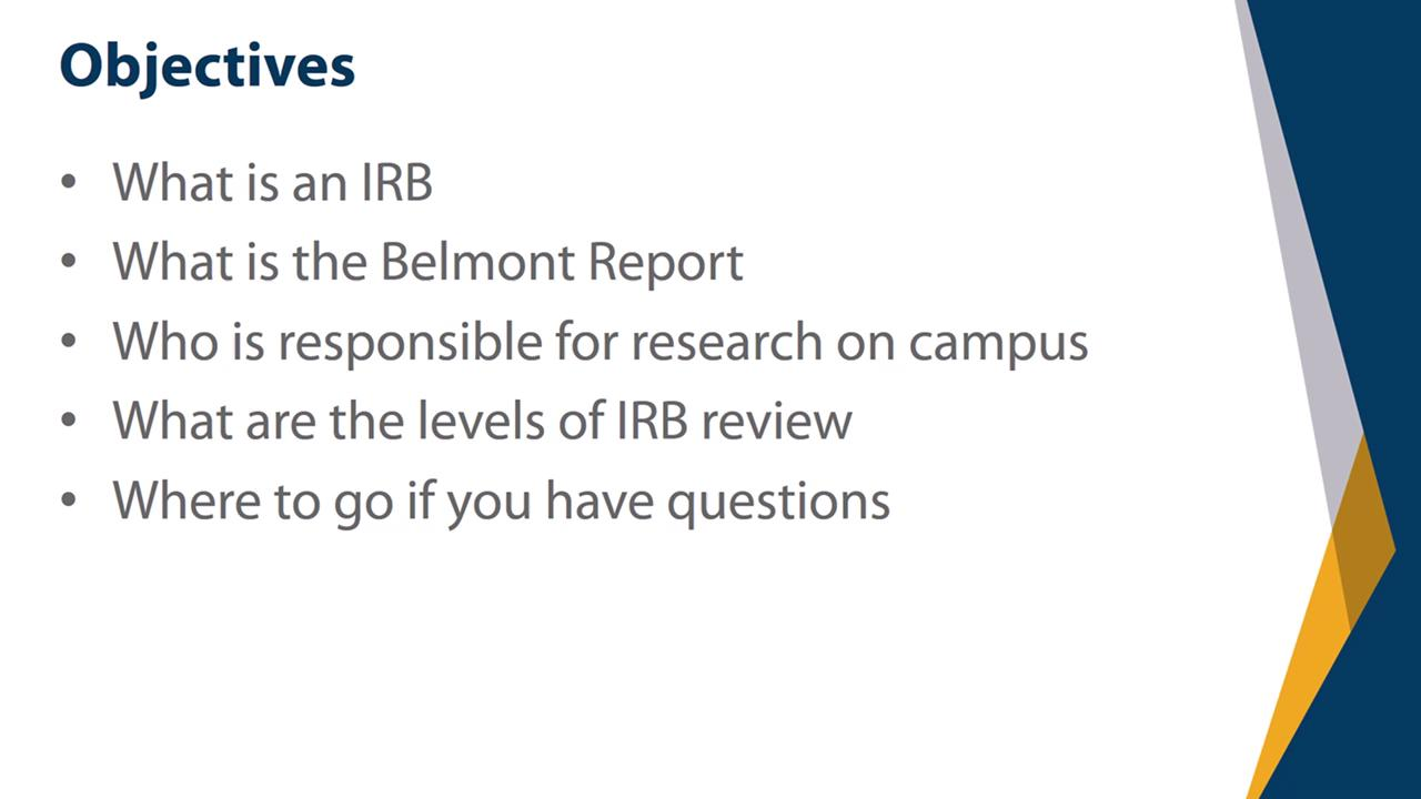 View thumbnail for IRB Training: Video 2