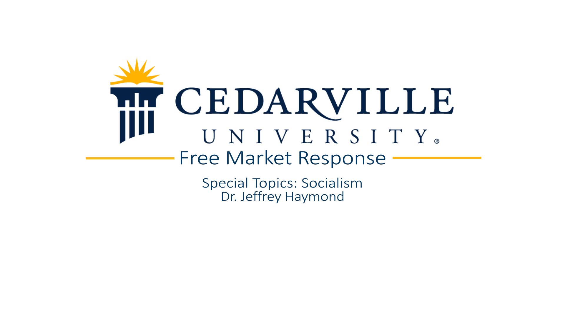 View thumbnail for Free Market Response