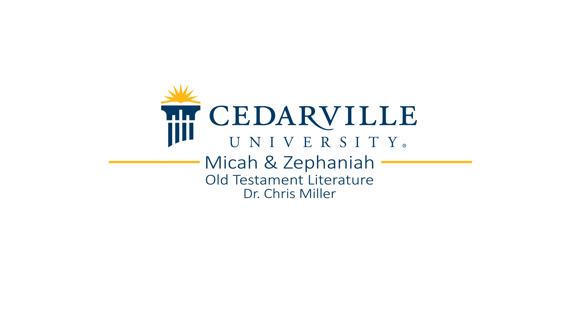 View thumbnail for Micah and Zephaniah