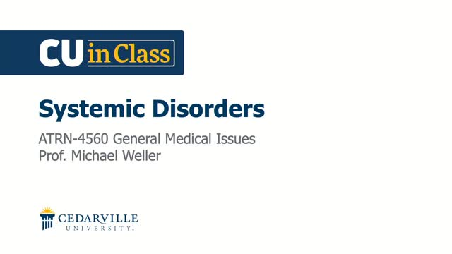 View thumbnail for Athletic Training – General Medical Conditions