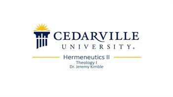 View thumbnail for Theology I: Hermeneutics (part 2)