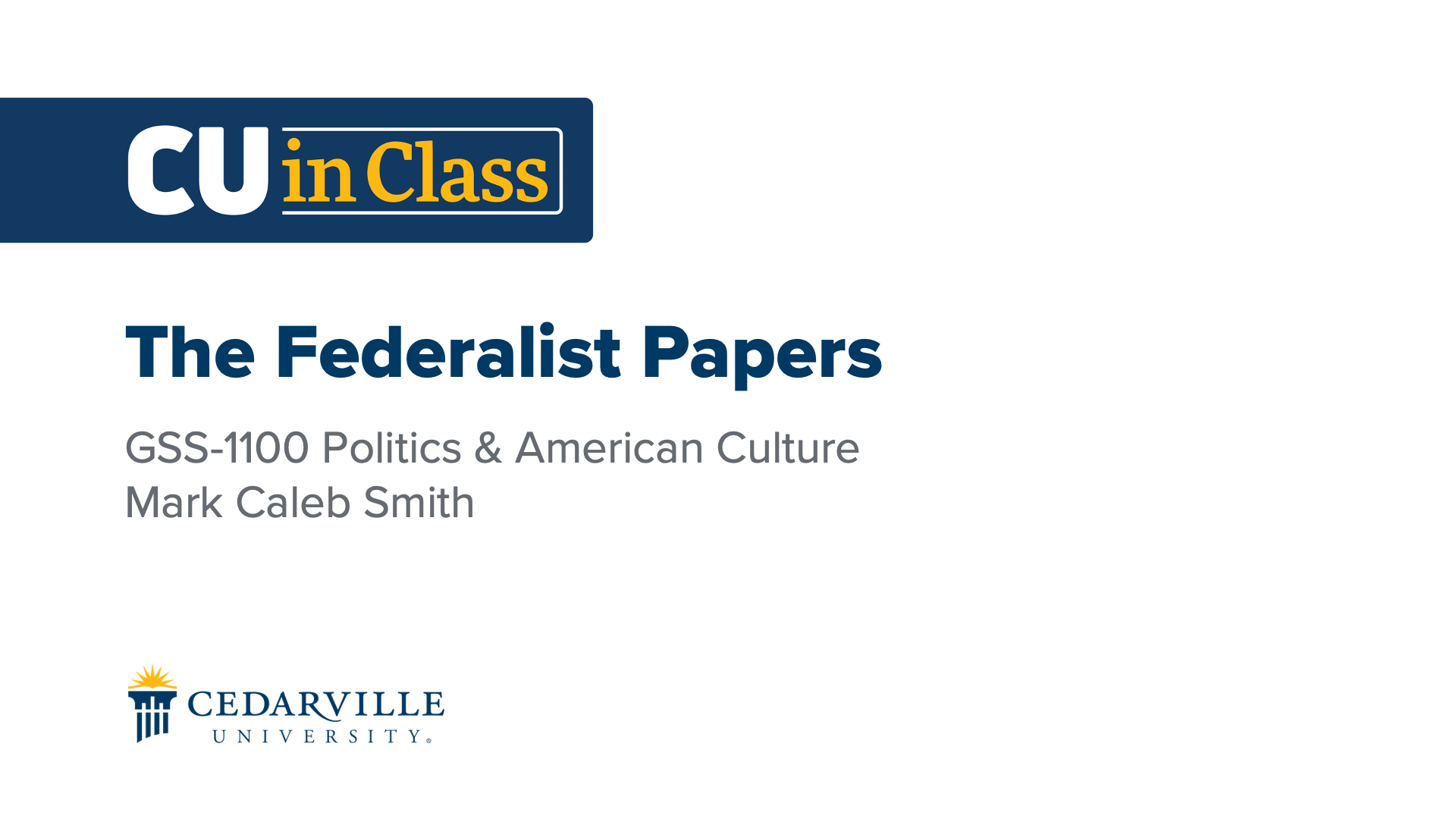 View thumbnail for Political Science – Politics & American Culture