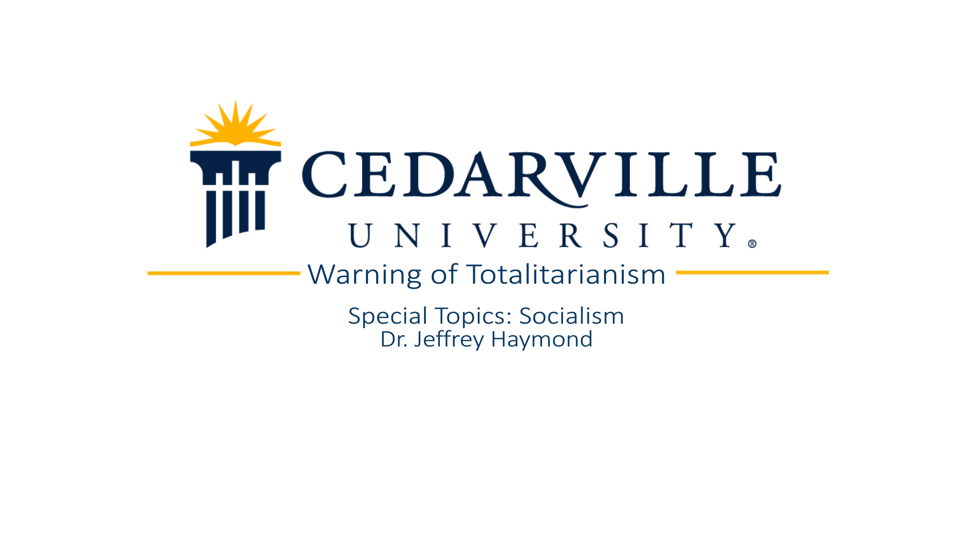 View thumbnail for Warning of Totalitarianism