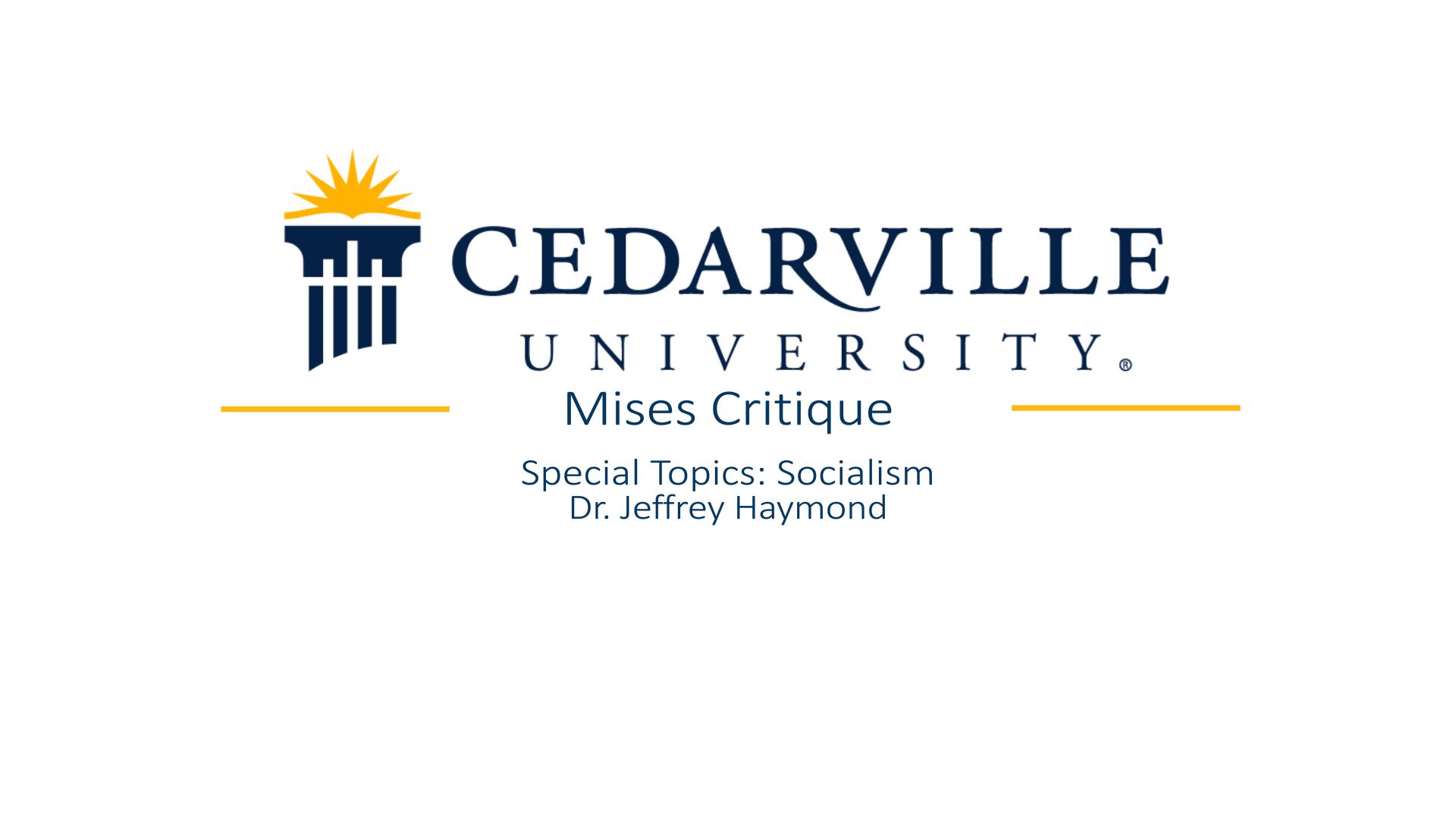 View thumbnail for Mises Critique