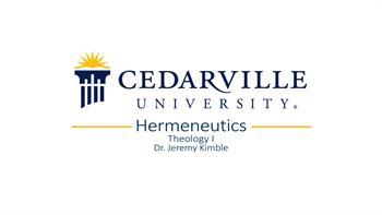 View thumbnail for Theology I: Hermeneutics (part 1)