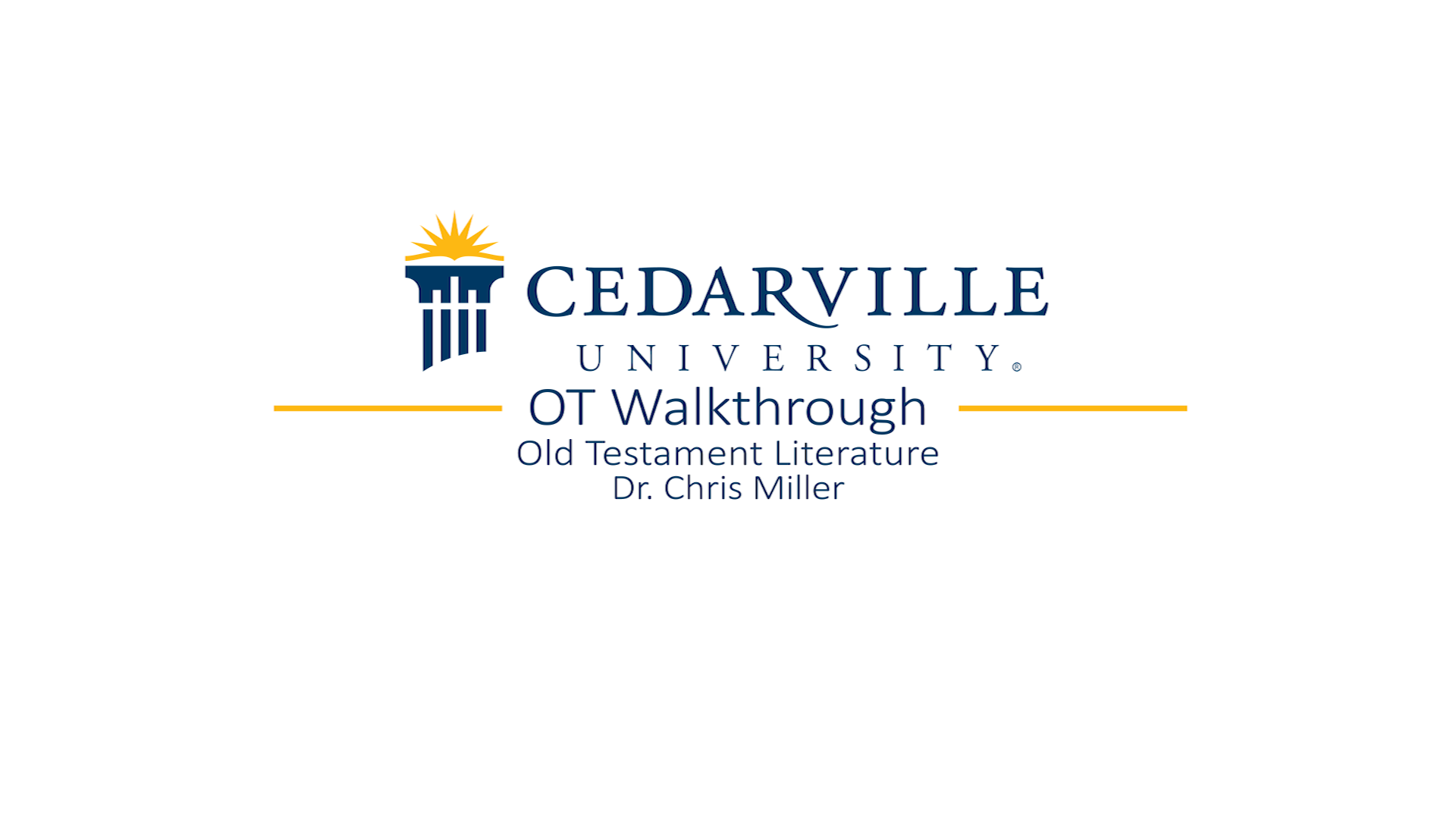 View thumbnail for Old Testament Walkthrough