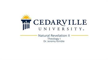 View thumbnail for Theology I: Natural Revelation (part 2)