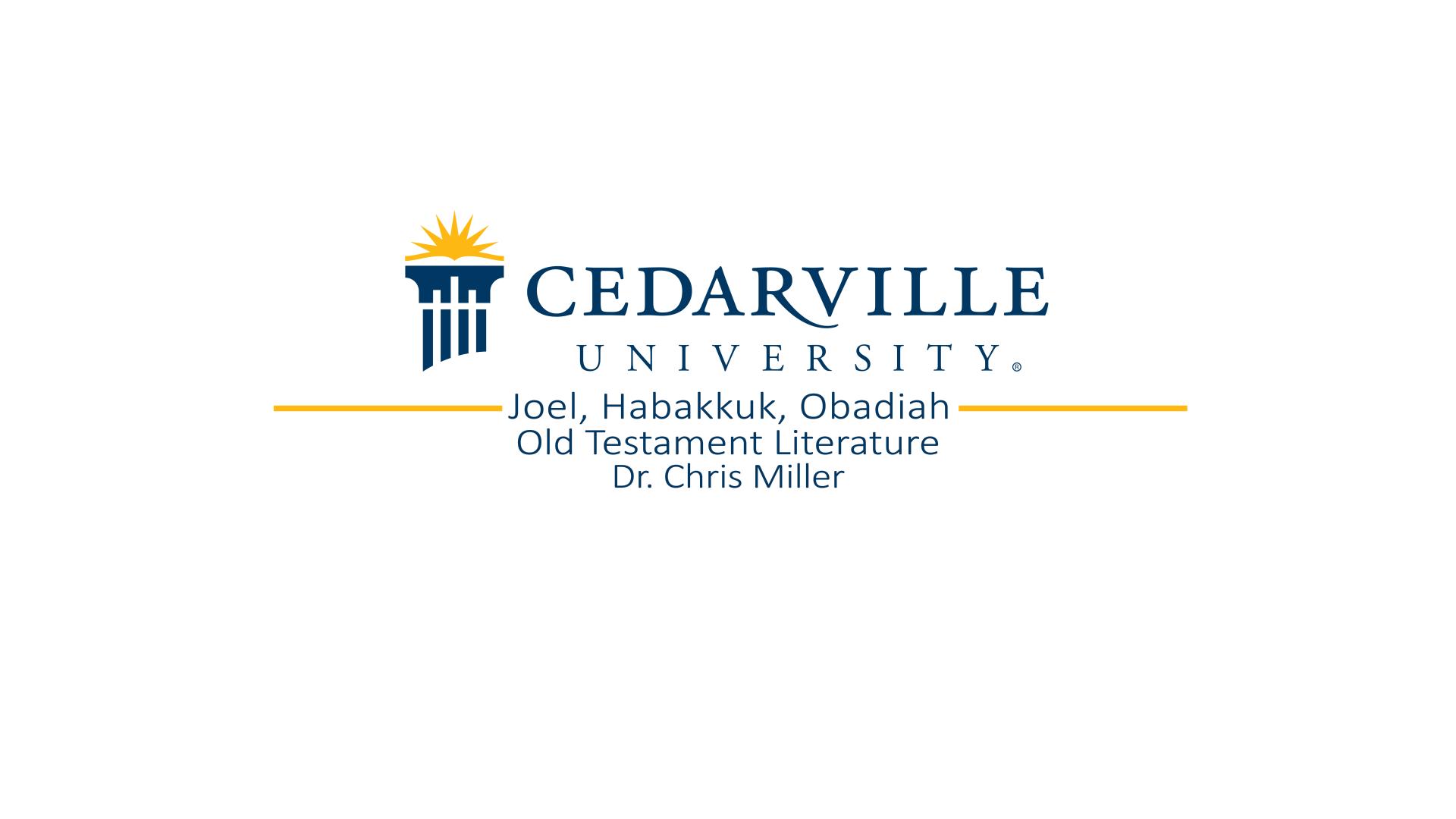 View thumbnail for Joel, Habakkuk, and Obadiah