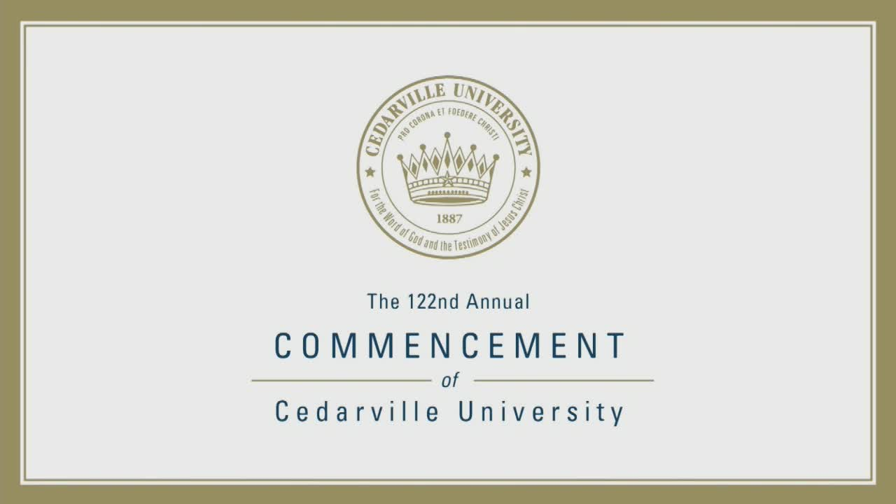 View thumbnail for The 122nd Commencement of Cedarville University