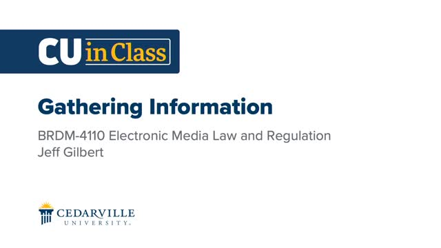 View thumbnail for Journalism – Electronic Media Law and Regulation